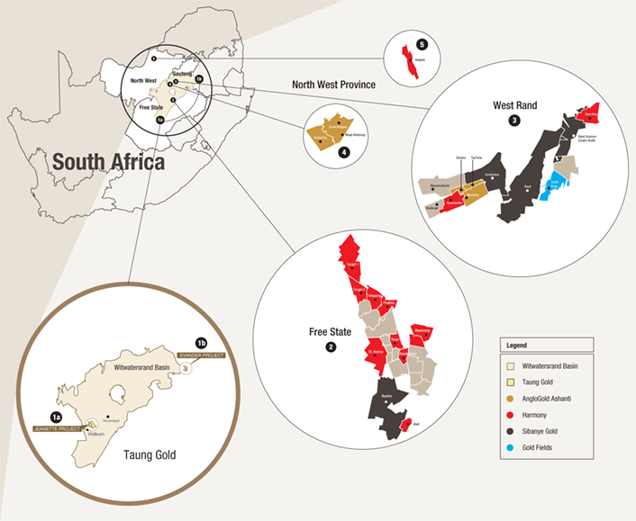 South African gold mines [graph]